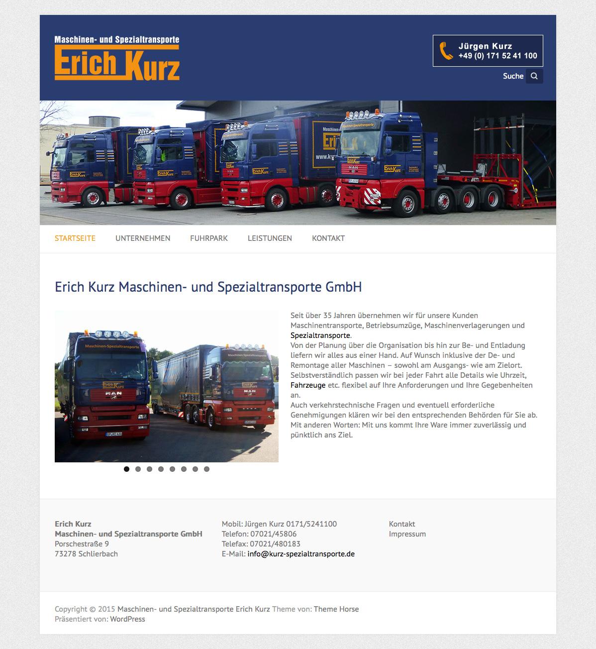 Maschinen – und Spezialtransporte Kurz